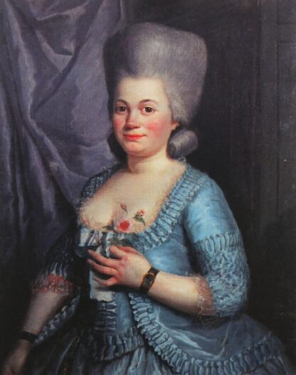Portrait de Marie-Jeanne Berin, dite Rose Bertin. Huile sur toile 81 x 64,5 cm, par Guillaume Dominique Doncre (1743-1820). Collection particulière.