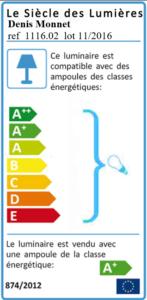 Etiquette énergie Denis Monnet