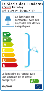 Etiquette énergie Cavité Faraday