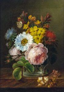 Bouquet de fleur par la femme peintre Anne Vallayer-Coster